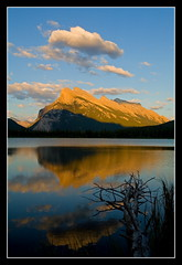 Rundle (stevenbulman44) Tags: sunset summer cloud sun mountain color reflection tree photo amazing group picture sos goldstar blueribbon rundle the jotbe vermillionlake absolutelystunning theunforgettable yourverybest mywinners landscapebeauty silentlife theunforgettablepictures scenicareas empryean theamazingphoto
