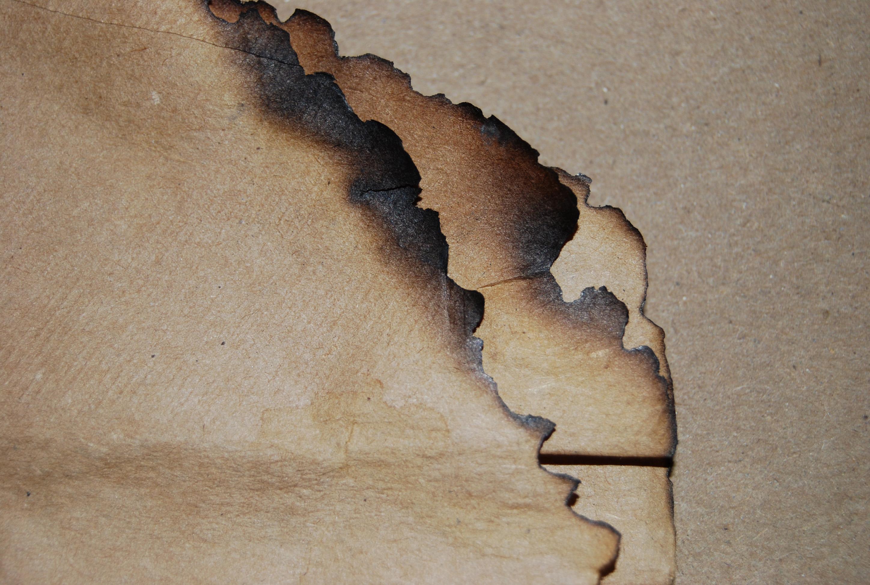 Burnt Paper Spray Paint