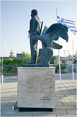 (-Filippos-) Tags: monument statue greek eagle cyprus national hero larnaca kalo  chorio eoka   gregoris  afxentiou
