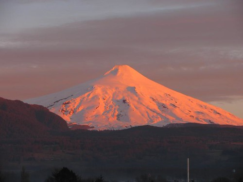 Villarrica Volcano at sunset