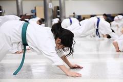 Karate girl (Benny2006) Tags: green belt karate warmup toughday pushup canon40d