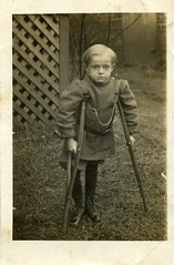 Robert Millard McClure (David C. Foster) Tags: boy vintage child knickers 1910 crutches crutch injured handicapped crippled