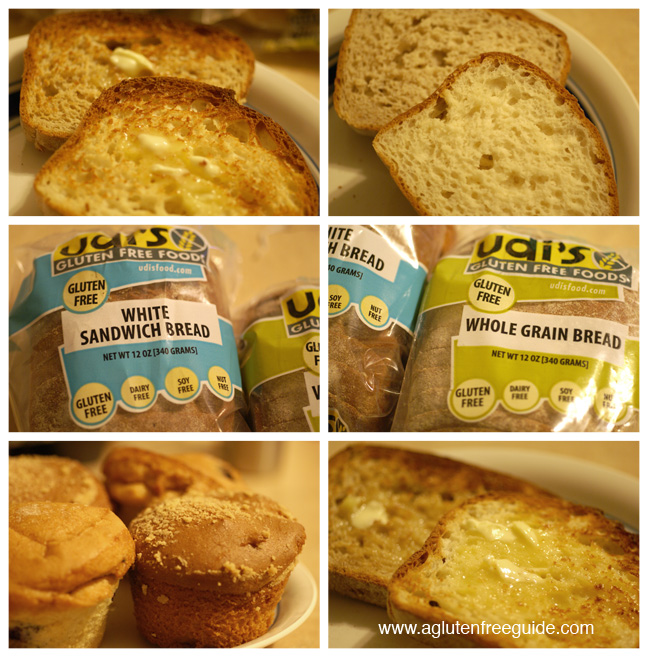 Udis gluten free bread and muffin sampler