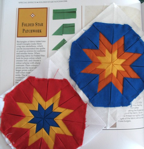 Folded Star Quilt Block http://handledcarefully.blogspot.com/2009_08_01_archive.html