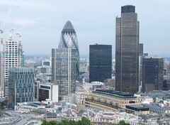 View of Gherkin and Natwest building from 25 Ropemaker Street (jsleema1) Tags: from street building view 25 gherkin natwest ropemaker