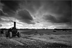 Fowler Ploughing Engine (opobs) Tags: wheels steam september dorset 2009 muddy plough tyres fowler tractionengine dirtyknees greatdorsetsteamfair gdsf showmansengine opobs michaeljstokesawpf fowlerb6