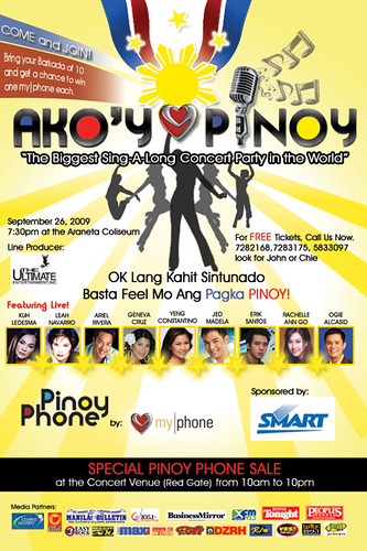 philippine events my-phone pinoy phone free concert