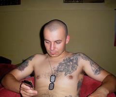 skin1851 (SkinHH) Tags: tattoo skin boots shaved smoking skinhead lonsdale glatze