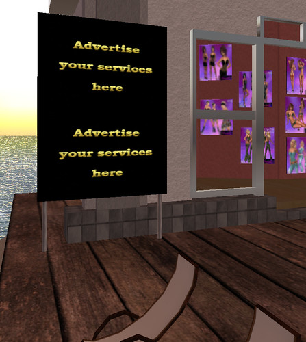 Ads for rent at the docks