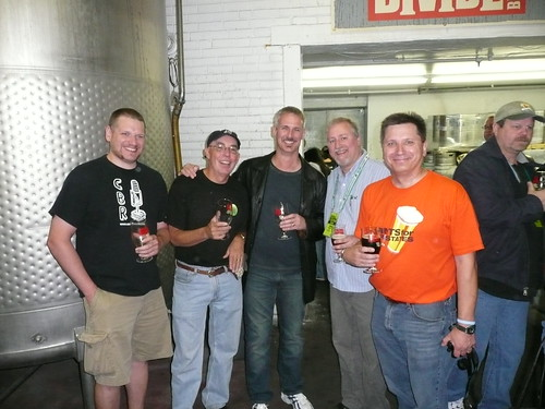 Jeff Bearer, Stan Hieronymus, Stephen Beaumont, me and Rick Lyke @ Great Divide