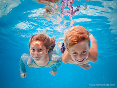 together (david_CD) Tags: girls summer boys pool swim children fun twins underwater dive siblings losangles lightroom lightonkids pixel2canvas