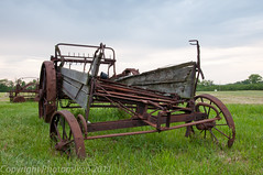 _DSC6614 (PhotoMikeP) Tags: red rust meetup antique farm rusty rake wornout images2011 hedgebrookfarms studioandportraitphotographymeetup