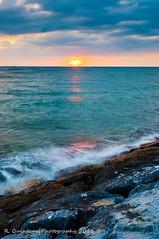 Seawall @ Okinawa, Japan (R.Quintano   Photography) Tags: sunset japan landscape nikon okinawa d90 americanvillage okinawajapan nikond90 1424mm nikon1424mmf28