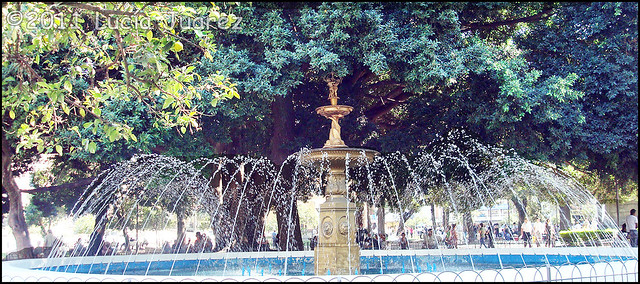 Fountain in Plaza de la Independencia, Tucuman, Argentina