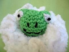 Handmade Crochet Frog Pour for Baby Bath Time (GrandmaLindasHouse) Tags: baby bath toddler child crochet frog pouf washcloth poof
