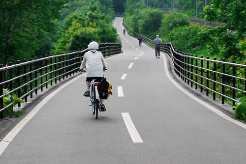 On the Shiroishi/Elfin Cycling Road between Kitahiroshima and Sapporo, Hokkaido, Japan