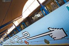 Retro Metro (Hannes R) Tags: art station wall train subway hand metro sweden stockholm finger retro pixel pixels tunnelbana thorildsplan