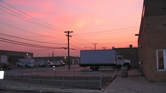 Summer sunset. Bridgeview Illinois. August 2008.