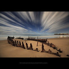 Night Rider (Garry - www.visionandimagination.com) Tags: ocean longexposure seascape beach water night clouds landscape sand nightscape nocturnal nightshot oz framed australia fullmoon explore creativecommons qld wreck aus distillery sunshinecoast cloudscapes ogm ssdicky nightrider dicky blueribbonwinner otw dickybeach outatnight platinumphoto impressedbeauty visiongroup mycameraneverlies overtheexcellence theperfectphotographer ostrellina multimegashot reflectyourworld dragondaggeraward thedantecircle lightiq platinumpeaceaward bestcapturesaoi imagicland magicunicornverybest picsala magicunicornmasterpiece obramaestra wwwvisionandimaginationcom