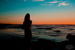 Beach Pose (elbyincali) Tags: ocean california light sunset shadow sea sky sun color beach water girl pose sand san waves sundown sandiego picture posing diego shade take current position beachpose paintingwithlightandshadows posinginsandiego