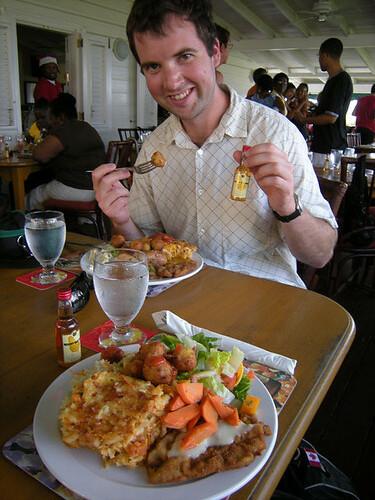barbados rum food