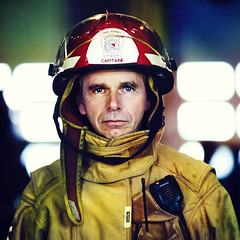 Firefighter  (front Page of DIGIPHOTO PRO magazine) (Benoit.P) Tags: portrait yellow jaune canon rouge dof montral benoit mtl bokeh strangers vivid stranger 5d troisrivieres firefighter mauricie pompier feu tr paille caserne troisrivires benoitp benoitpaille
