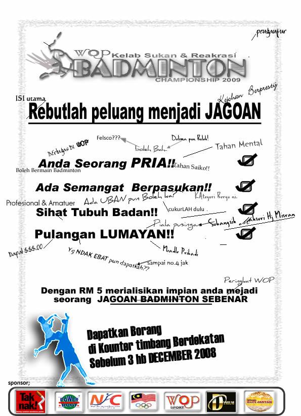 Iklan badminton tawau piala championship