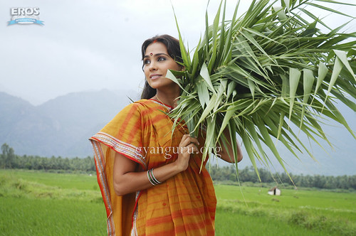 Lara Dutta as a village woman in the movie Billu Barber