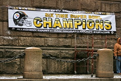Six Time Super Bowl Champions (Deepak & Sunitha) Tags: pittsburgh nfl super bowl victory parade title superbowl sixth celebrate 2009 steelers champions grantstreet gosteelers terribletowel herewego steelernation xliii sixburgh slashd