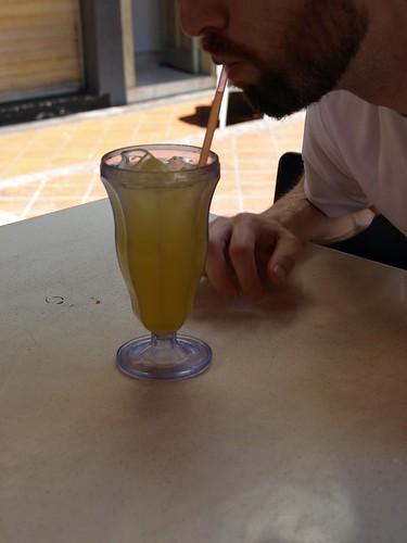 Jeff drinks lime juice