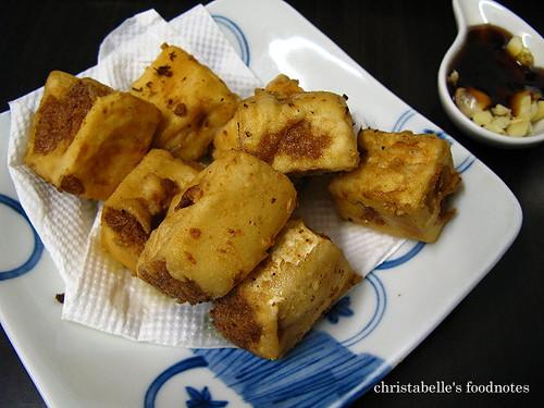 慶城街日式路邊攤炸豆腐