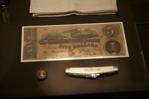 Confederate Five Dollar Note (from Lincoln's Pockets)