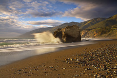 The Rock - Big Sur, California (PatrickSmithPhotography) Tags: california travel sunset wallpaper vacation sky usa cloud mountain seascape storm beach nature water rock canon landscape geotagged sand bravo surf bigsur wave 5d canon5d sansimeon morrobay cambria mkii 1740l sanlouisobispo sancarpoforo captureone impressedbeauty frhwofavs vosplusbellesphotos