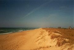 Outer Banks (wandering.in.the.woods) Tags: ocean sky beach water sand northcarolina hatteras shore outerbanks seashore atlanticocean otw flickrchallengegroup mycameraneverlies fcg2ndplace