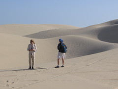 Crossing Qatar - Chris and Jeff (jeff holte) Tags: jeff crossing desert dune ellie 09 holte qatar
