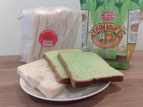 From left: Koptiam Bread and Pandan Bread