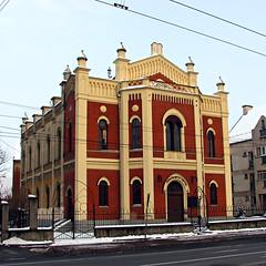 Sunset Synagogue (sonykus) Tags: street heritage church europe religion synagogue romania jewish transylvania eastern transilvania sibiu erdely hermannstadt siebenburgen nagyszeben constitutiei