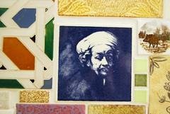 Mr Rembrandt himself printed on a ceramic tile (Otomodachi) Tags: blue portrait face diy ceramics blauw tiles painter rembrandt oldmaster gezicht keramiek tegels doehetzelf tulband koninklijketichelaarmakkum oudemeester