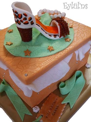 Kutu ve Leopar desenli Ayakkabı Pastası...