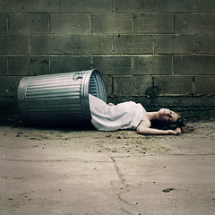 hide/seek (brookeshaden) Tags: selfportrait trash dead concrete death garbage ruins hide trashcan seek discard throwaway nikond80 brookeshaden wellwecantkeepherinthehouse
