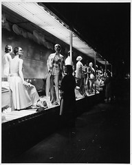 Store Window Display, Nighttime, Jordan Marsh, Washington Street, Women's Clothing Display (MIT-Libraries) Tags: windows mannequins pedestrians storefronts departmentstores cityplanning womensclothing storewindowdisplays massachusettsinstituteoftechnology documentaryphotography urbanareas bostonmass cityandtownlife urbanplanningandenvironment kepeslynchphotographcollection urbanlanduse xmlns:dcterms=httppurlorgdcterms jordanmarshandcompany dcterms:identifier=httphdlhandlenet1721334655