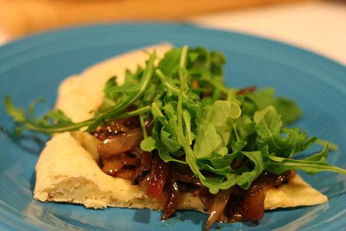Fig, Arugula, and Balsamic Onion Pizza