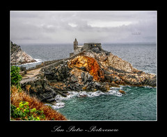 San Pietro ( Portovenere) (in eva vae) Tags: sea italy seascape church nature water colors landscape rocks italia mare liguria chiesa cape rocce sanpietro portovenere hdr laspezia platinumphoto frhwofavs promotorio flickrestrellas spiritofphotography flickrbestpics sailsevenseas tonemepping