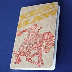 Yee Haw Pocket Moleskine (jcbonbon) Tags: red horse moleskine yellow notebook cowboy texas journal mini gocco western yeehaw lined juniperberry papergoods