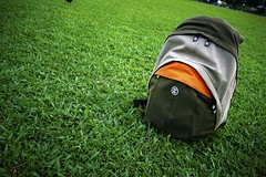Sinking Barge ({ Jep & Malu } Wedding Storytellers) Tags: green grass bag photography laptop australia crumpler backpack laptopbag productshot photobag sinkingbarge photographybags