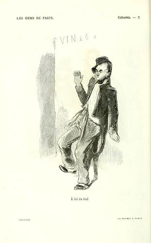 004-Cabaret-hace mucho viento-dibujo de Gavarni