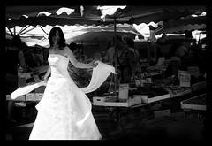 MARIAGE / WEDDING : In the market! :o) (Sebastien LABAN) Tags: wedding portrait white love face composition hair eyes cotedazur dress ceremony mariage shoulder glance 83 var sud straphael saintraphael haircutlook freijus