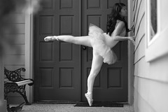 (Megan Caros) Tags: blackandwhite bw lines 50mm ballerina chelsea explore porch myhouse pointe bestfriend sparechange mattandkim explored