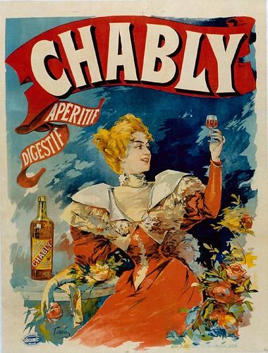 014- Affiche publicitario del aperitivo Chably- Siglo XIX