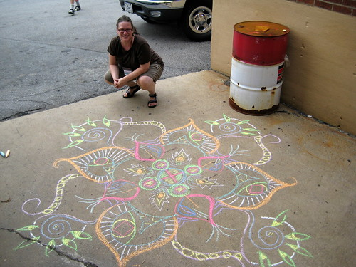 Sidewalk mandala outside the Boilerhouse